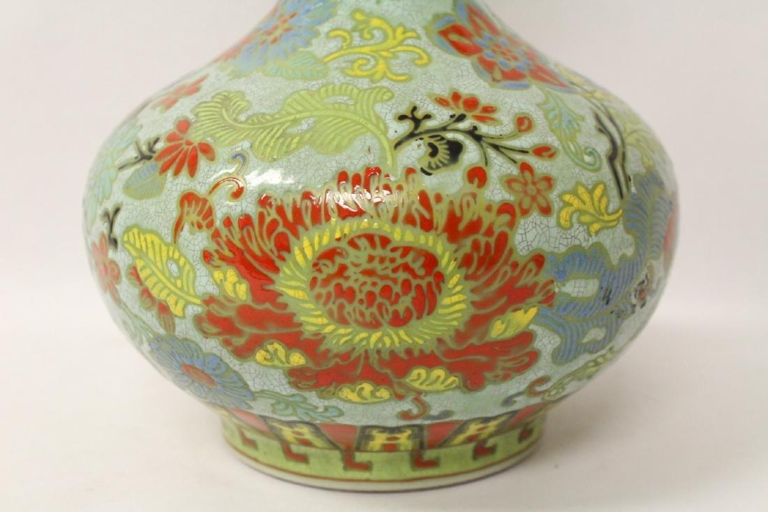Chinese famille rose porcelain bottle vase - 6