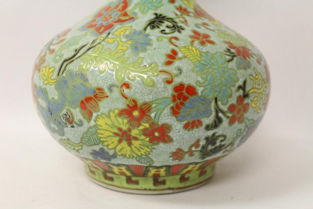 Chinese famille rose porcelain bottle vase - 7