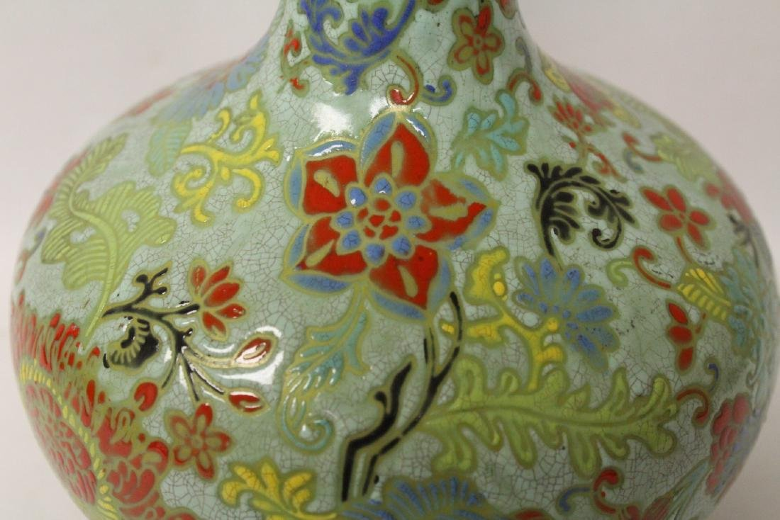 Chinese famille rose porcelain bottle vase - 8