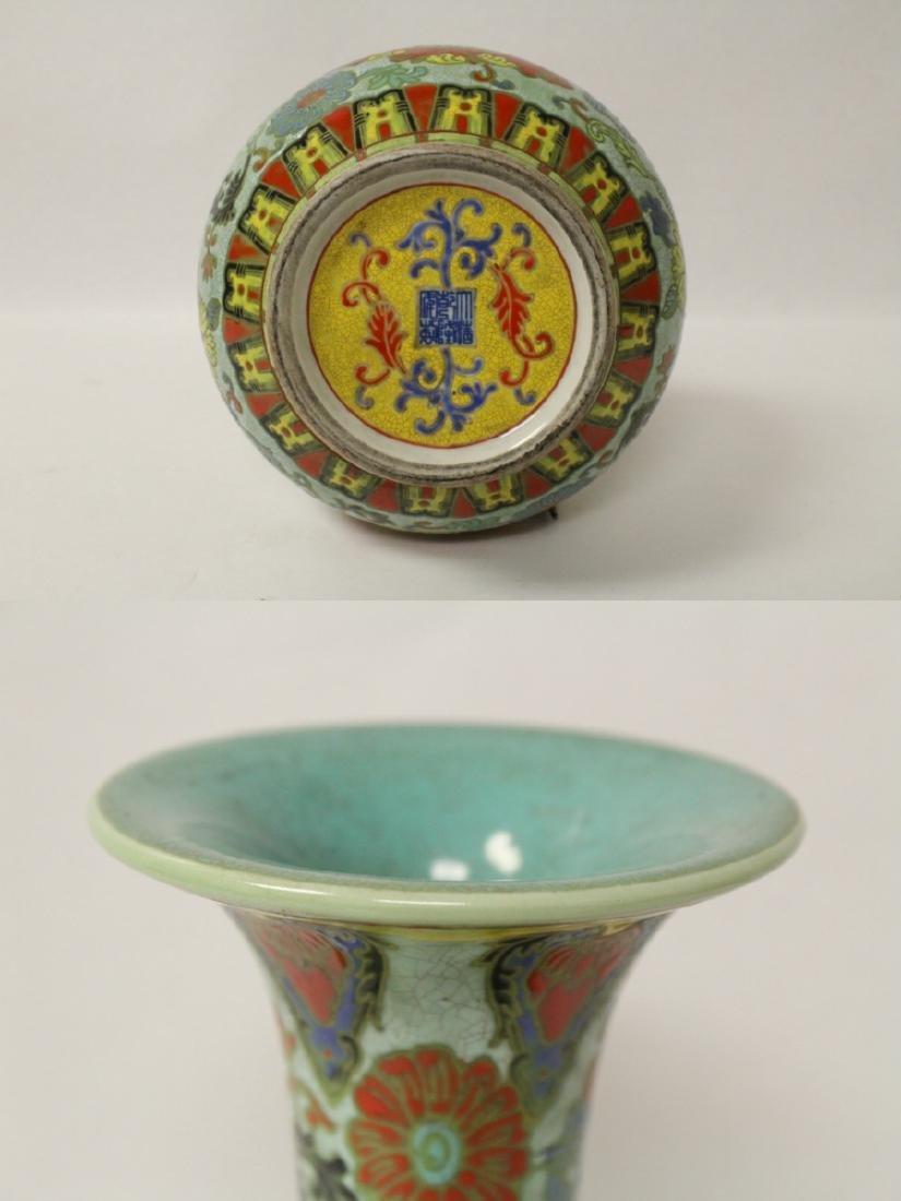 Chinese famille rose porcelain bottle vase - 9