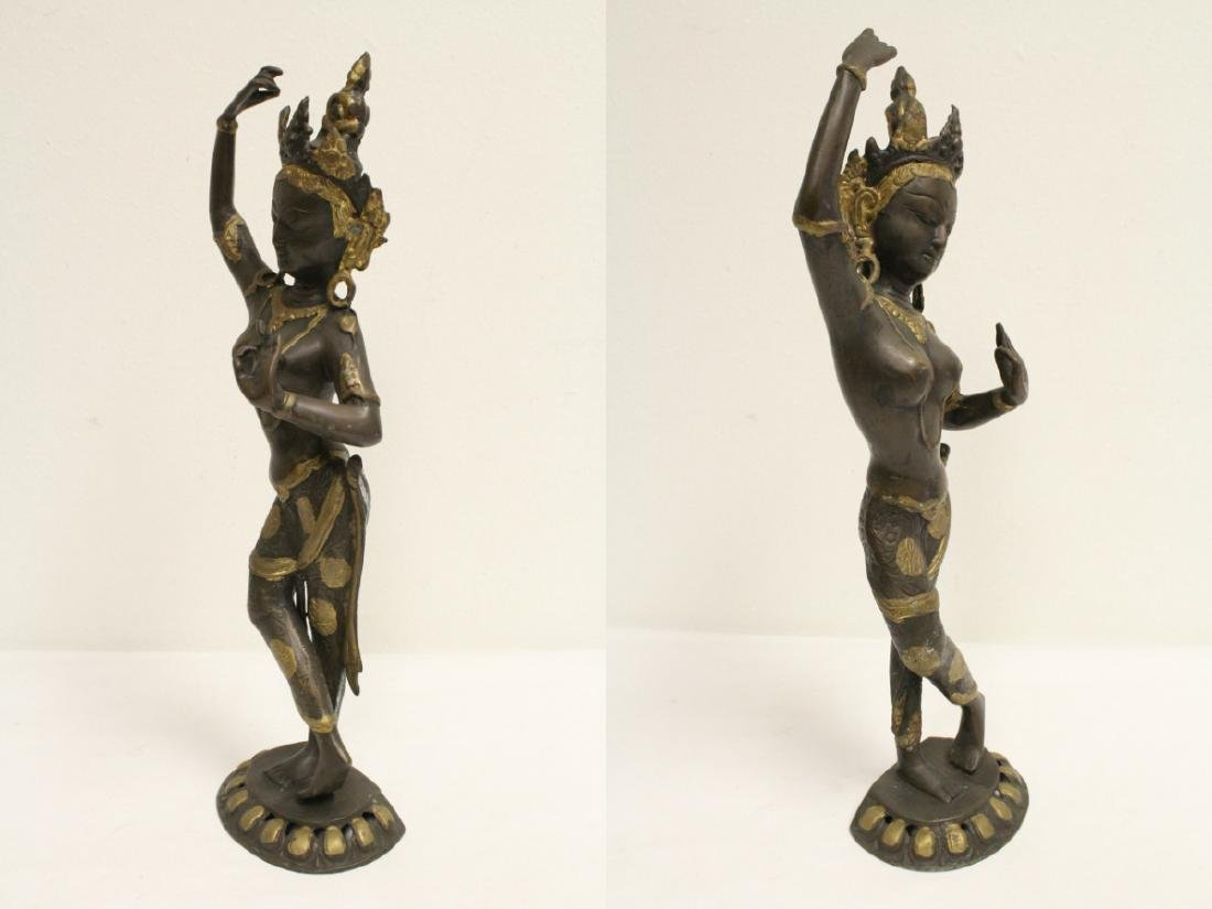 A bronze sculpture of standing Buddha - 5
