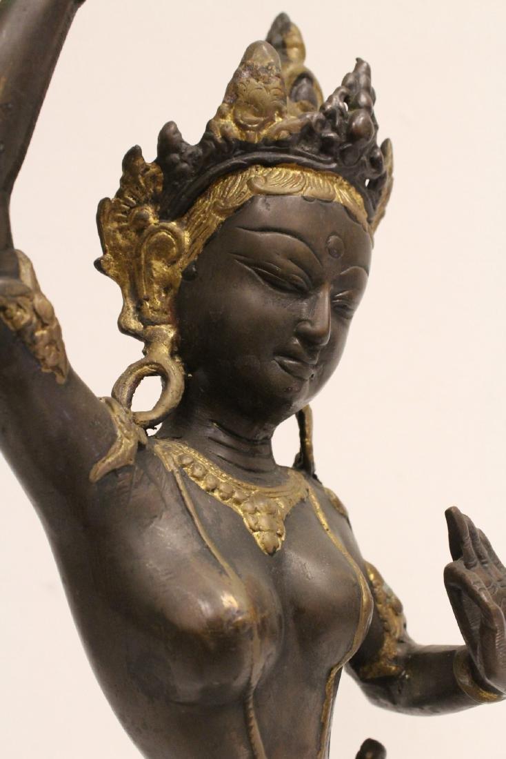 A bronze sculpture of standing Buddha - 9