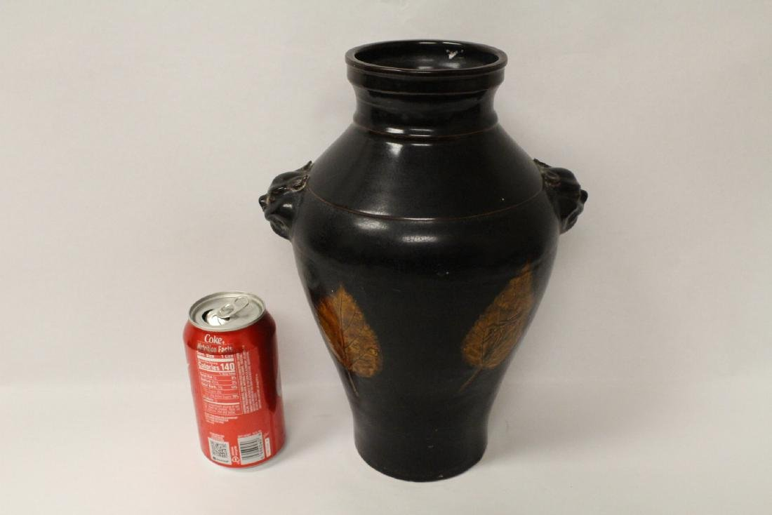 Song style brown glazed vase - 10
