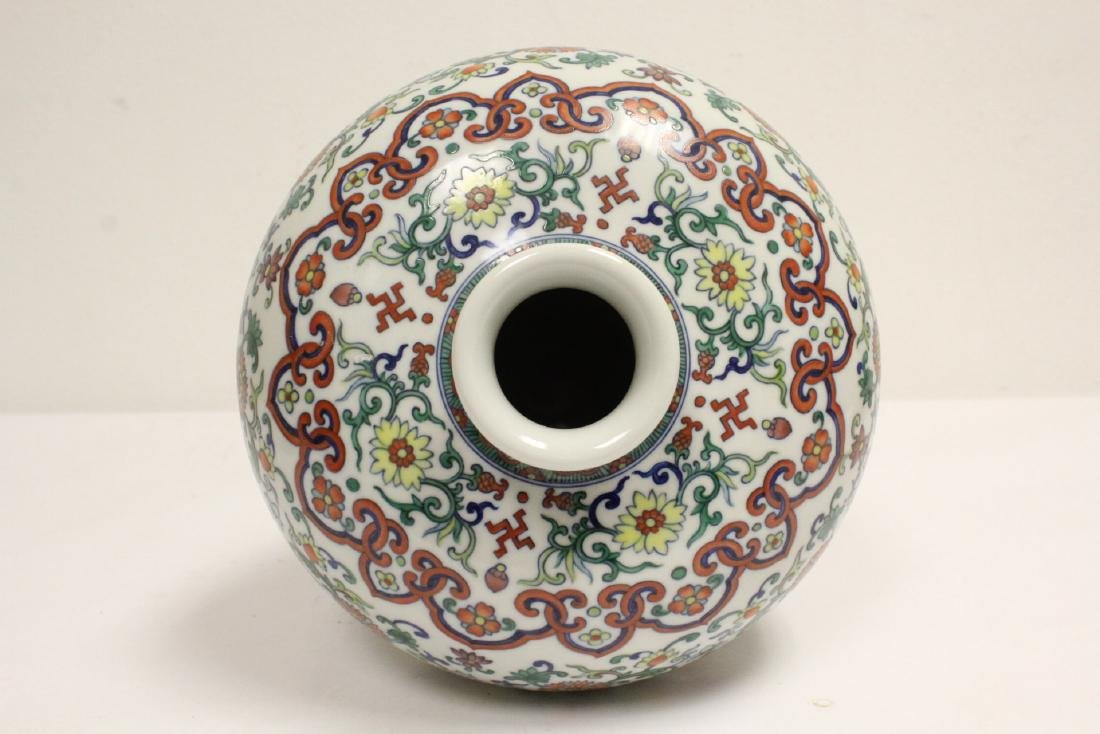 A fine famille rose porcelain meiping - 5