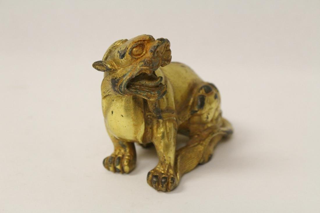 A gilt bronze qilin - 2