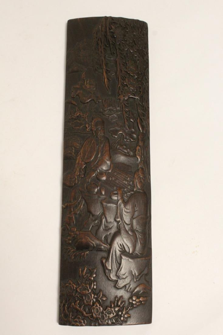 A fine bamboo carved armrest - 10