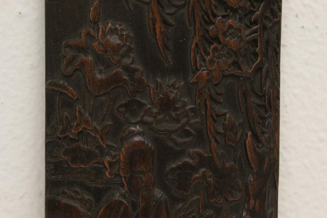 A fine bamboo carved armrest - 3