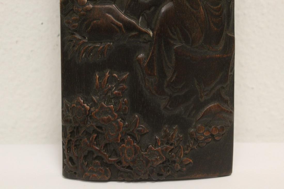 A fine bamboo carved armrest - 6