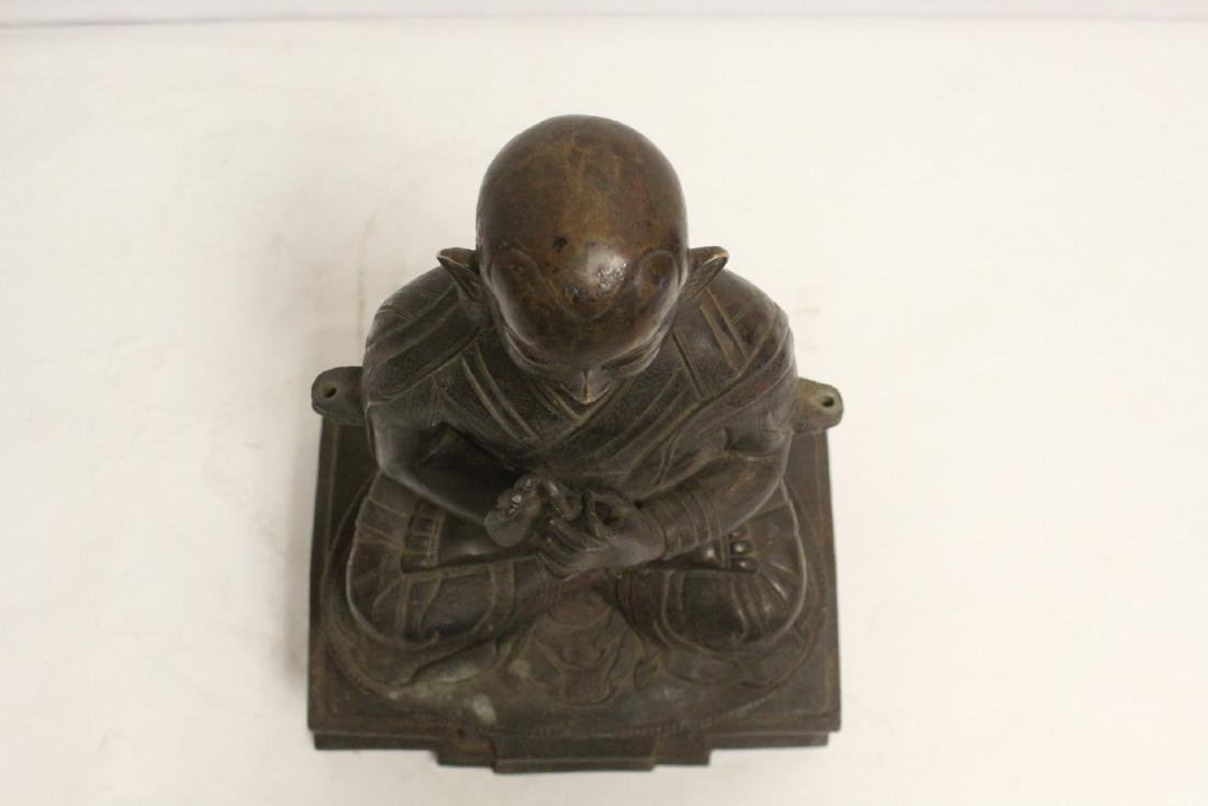 A very heavy Chinese bronze sculpture - 5