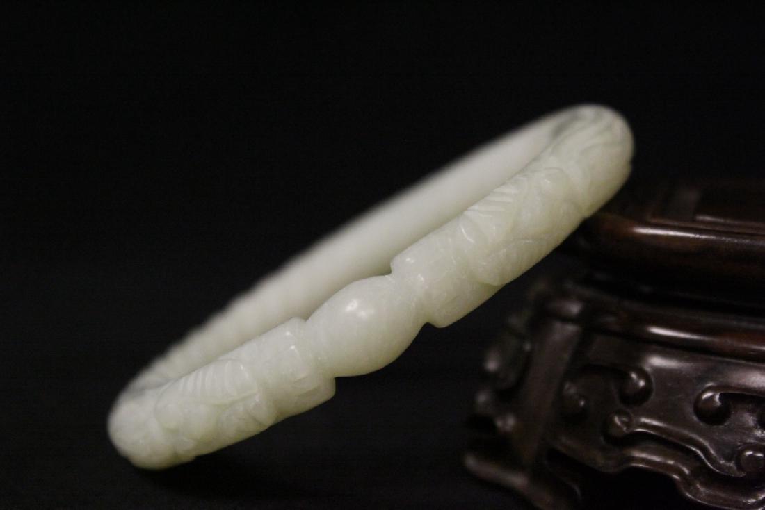 2 jade bangle bracelets - 6