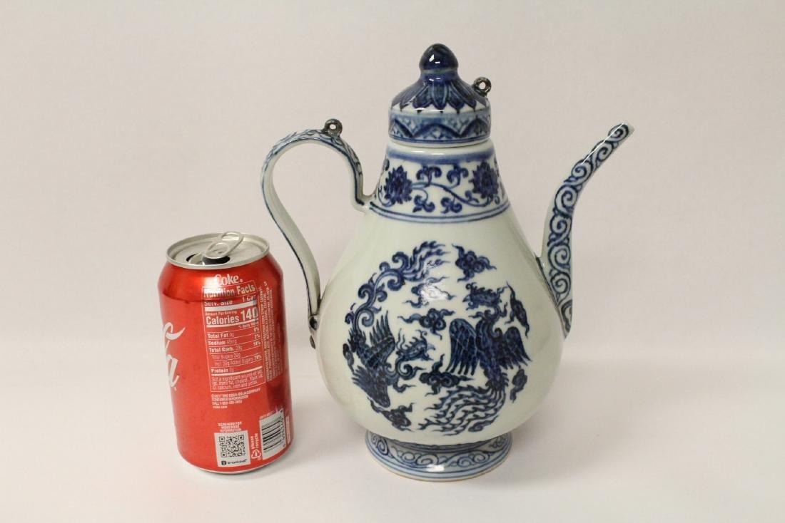 Blue and white porcelain wine server - 10