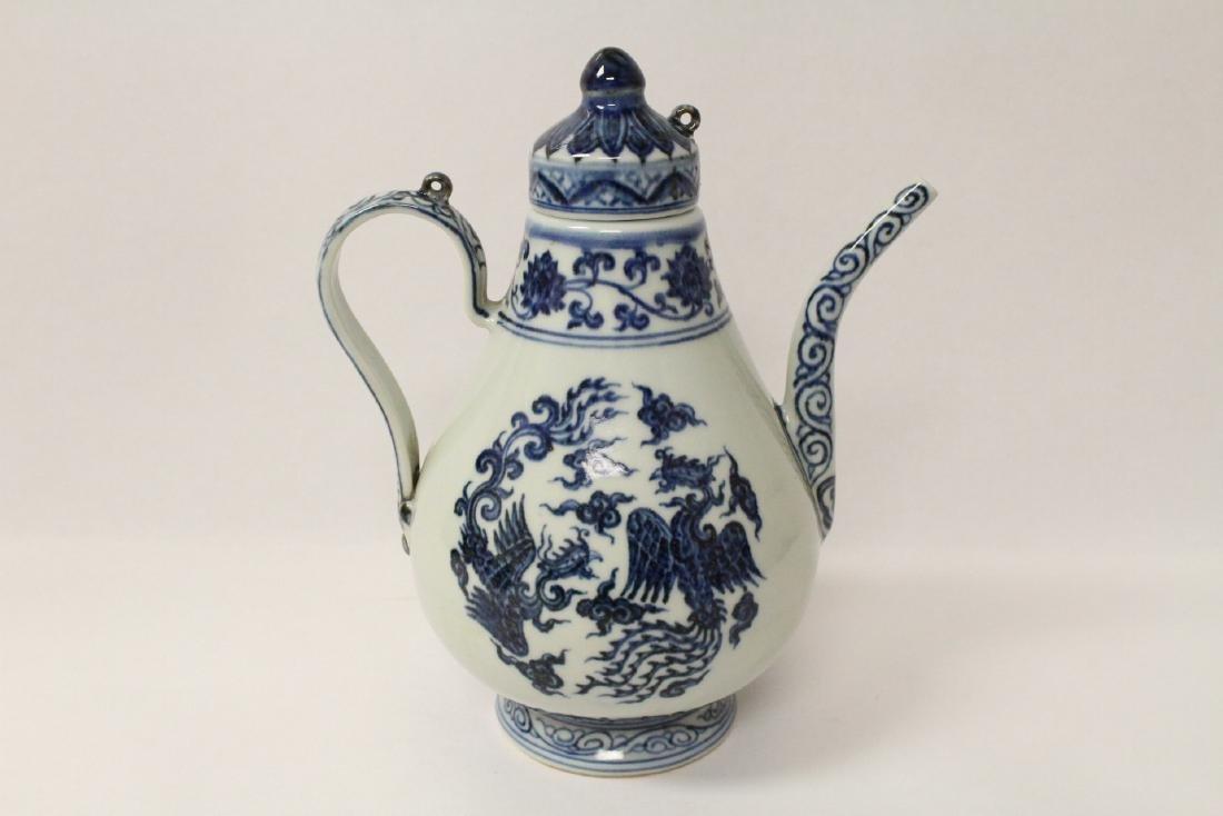 Blue and white porcelain wine server