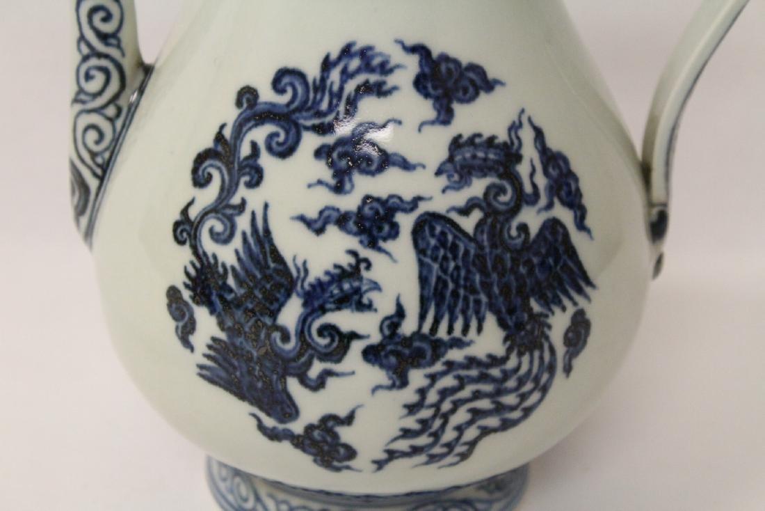 Blue and white porcelain wine server - 5