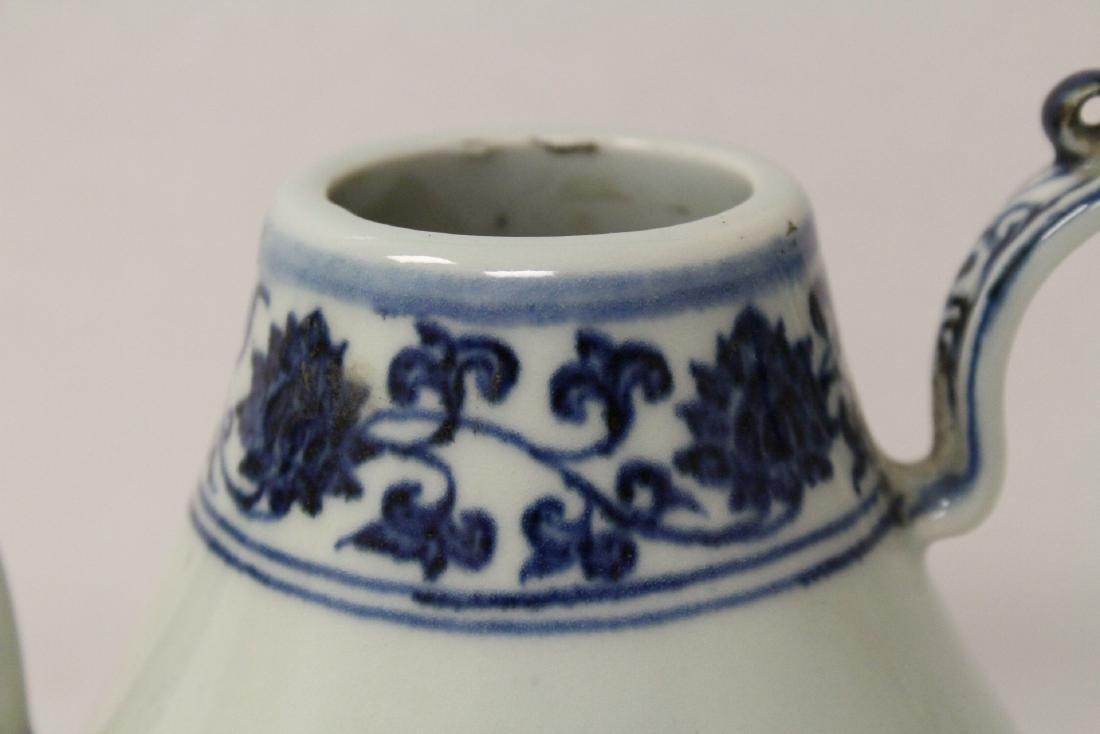 Blue and white porcelain wine server - 6