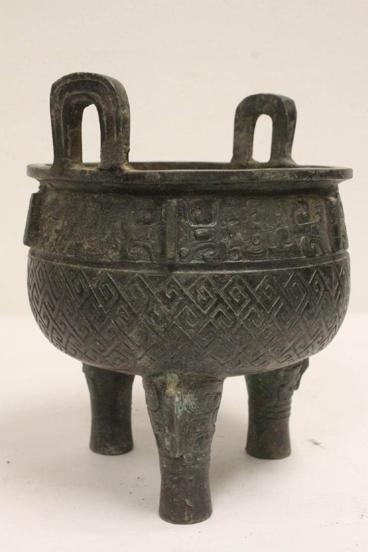 Archaic style bronze ding - 10