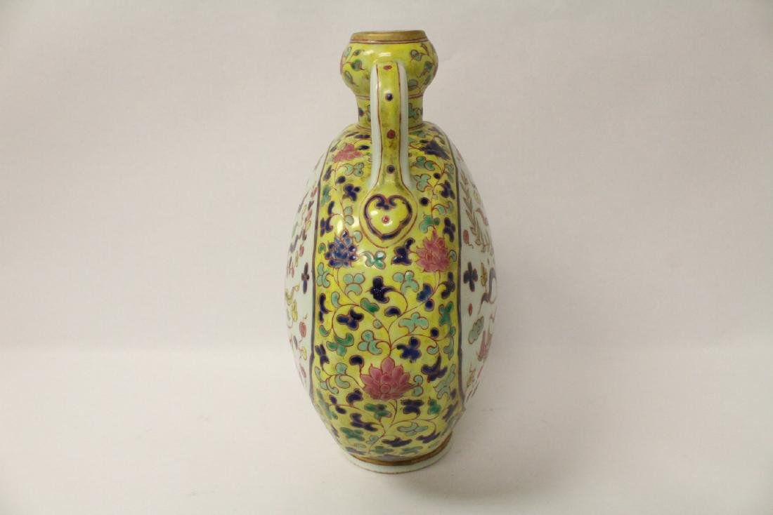 Unusual Chinese wucai porcelain wine flask - 6