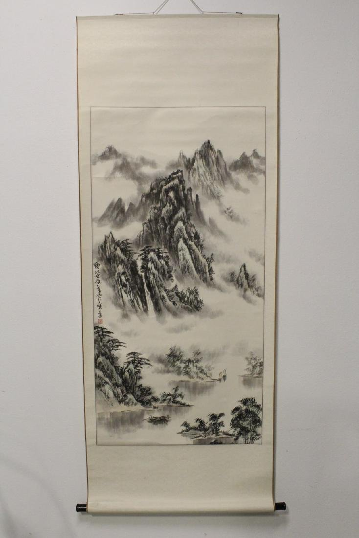 "Chinese watercolor scroll ""landscape"" - 2"
