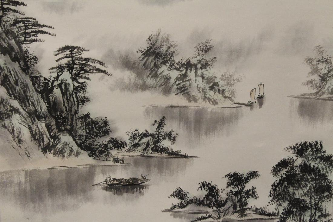 "Chinese watercolor scroll ""landscape"" - 4"