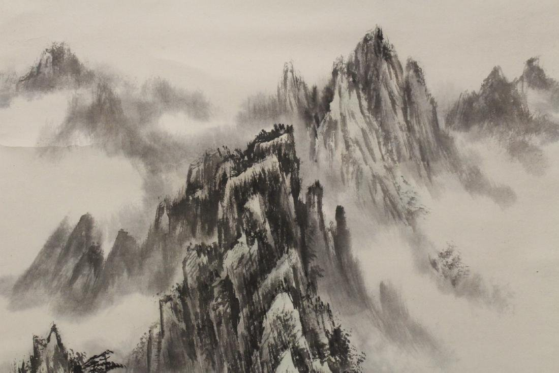 "Chinese watercolor scroll ""landscape"" - 6"