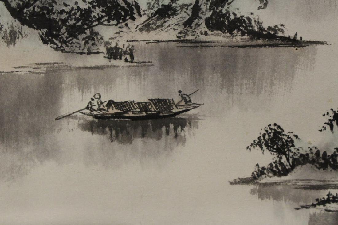 "Chinese watercolor scroll ""landscape"" - 7"