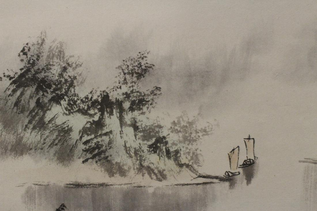"Chinese watercolor scroll ""landscape"" - 8"