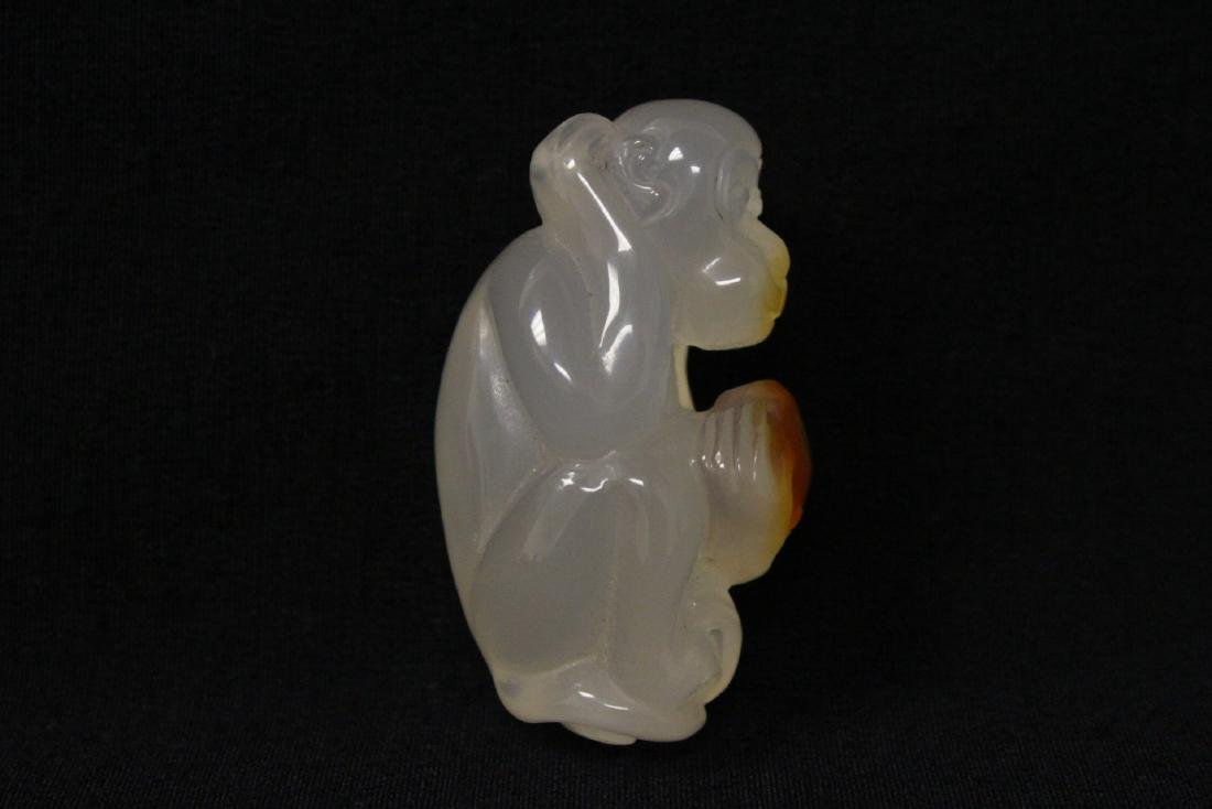 Agate carved monkey - 2