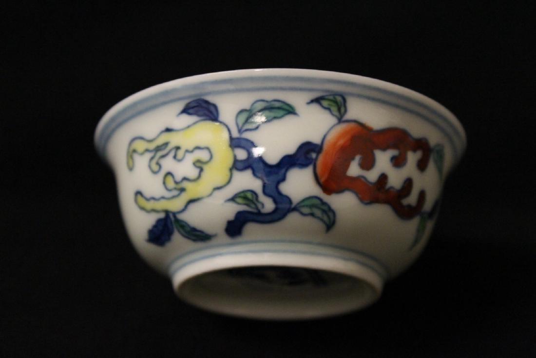 Wucai tea bowl - 4