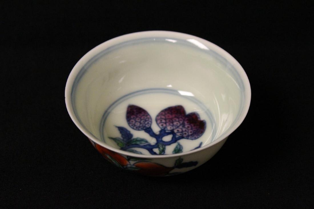 Wucai tea bowl - 6