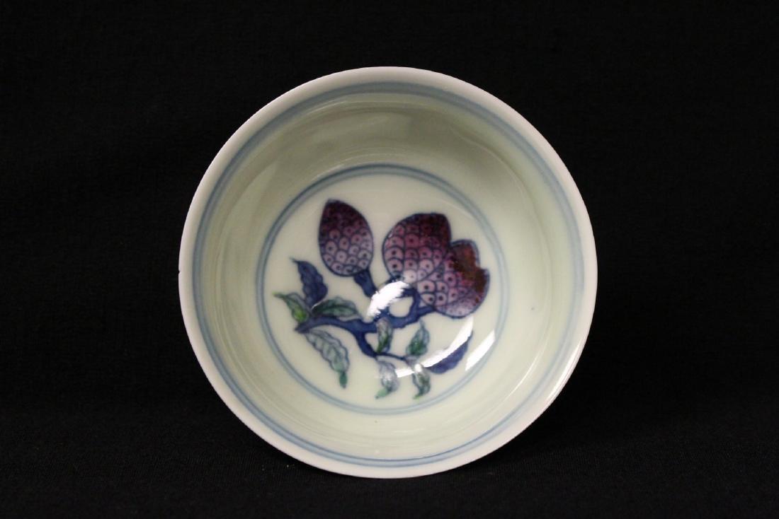 Wucai tea bowl - 7