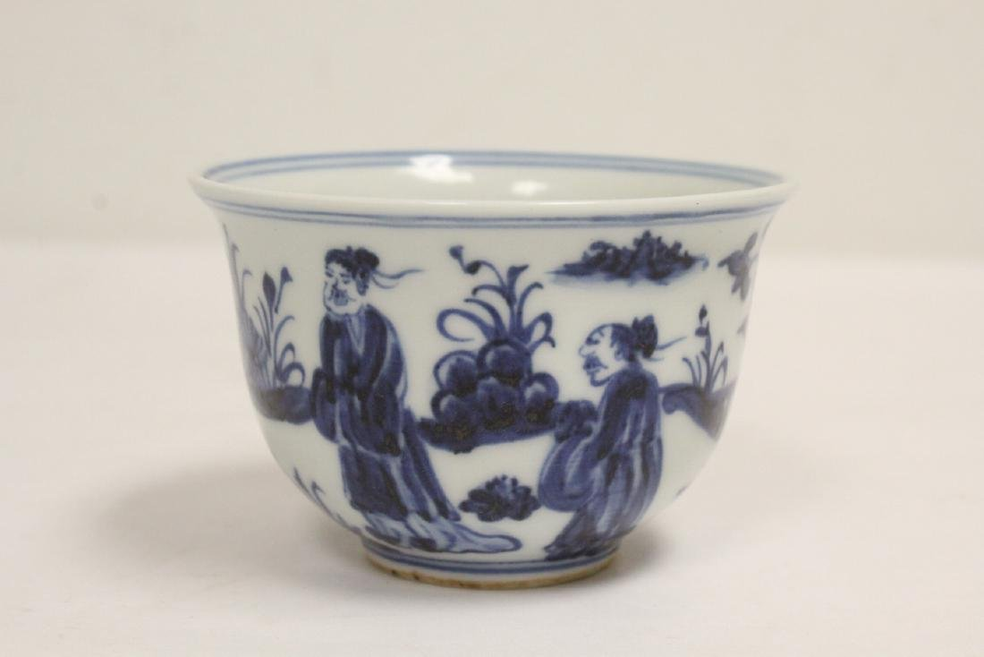 2 Chinese blue and white cups - 6