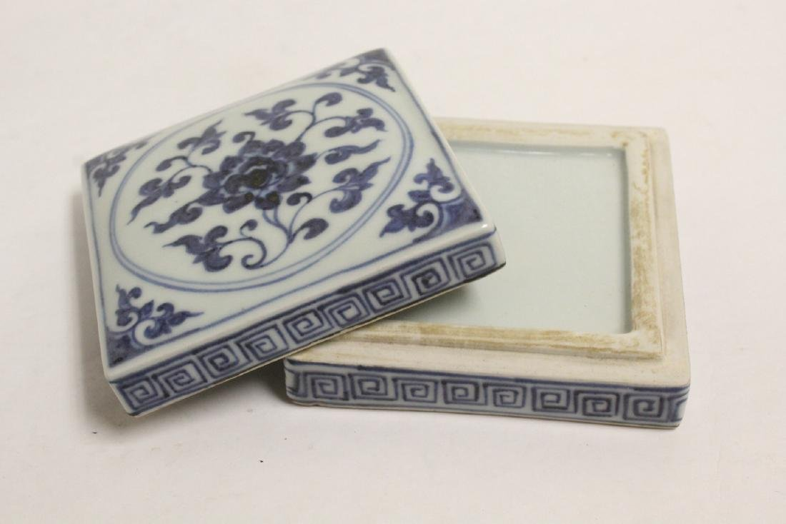 2 Chinese blue and white pieces - 5