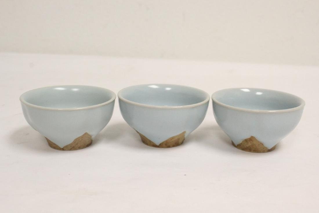 6 Chinese Song style celadon tea cups - 7