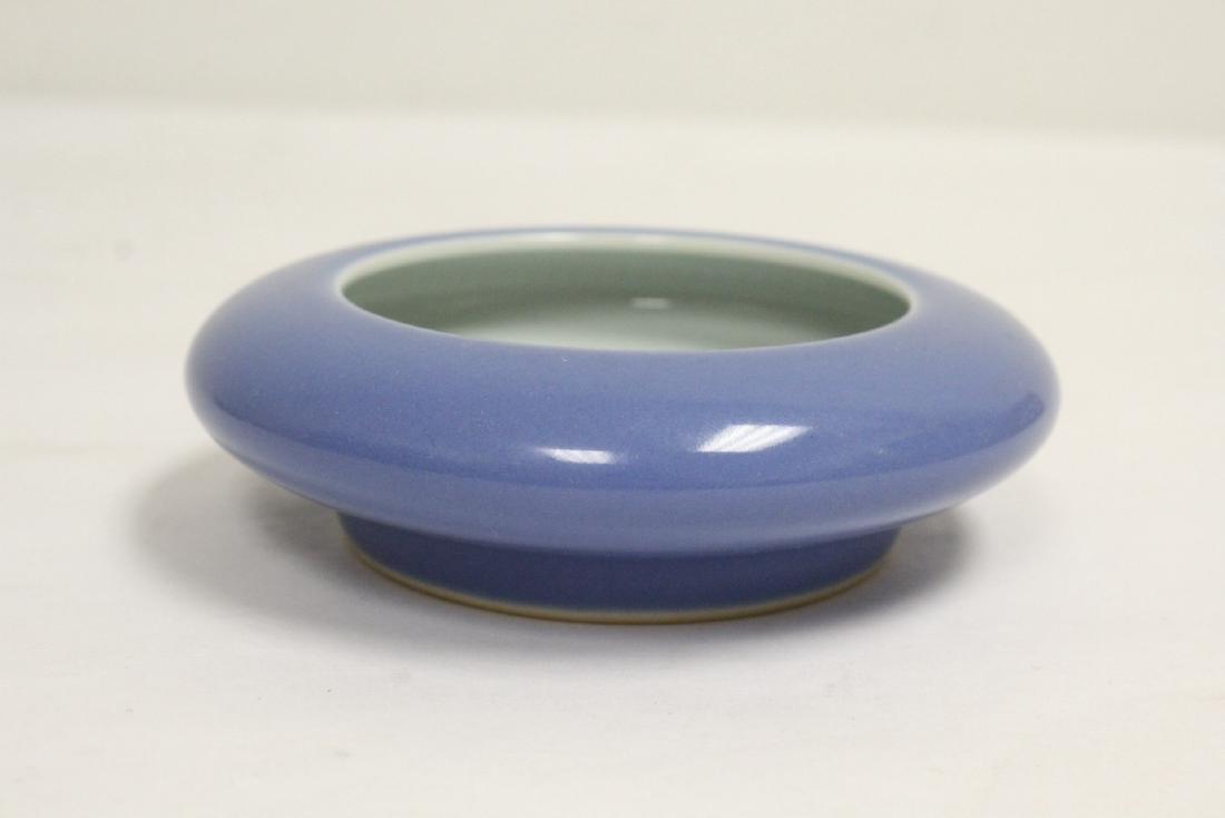 2 Chinese blue glazed brush washes - 6