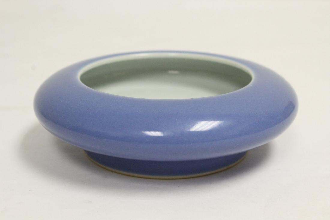 2 Chinese blue glazed brush washes - 7