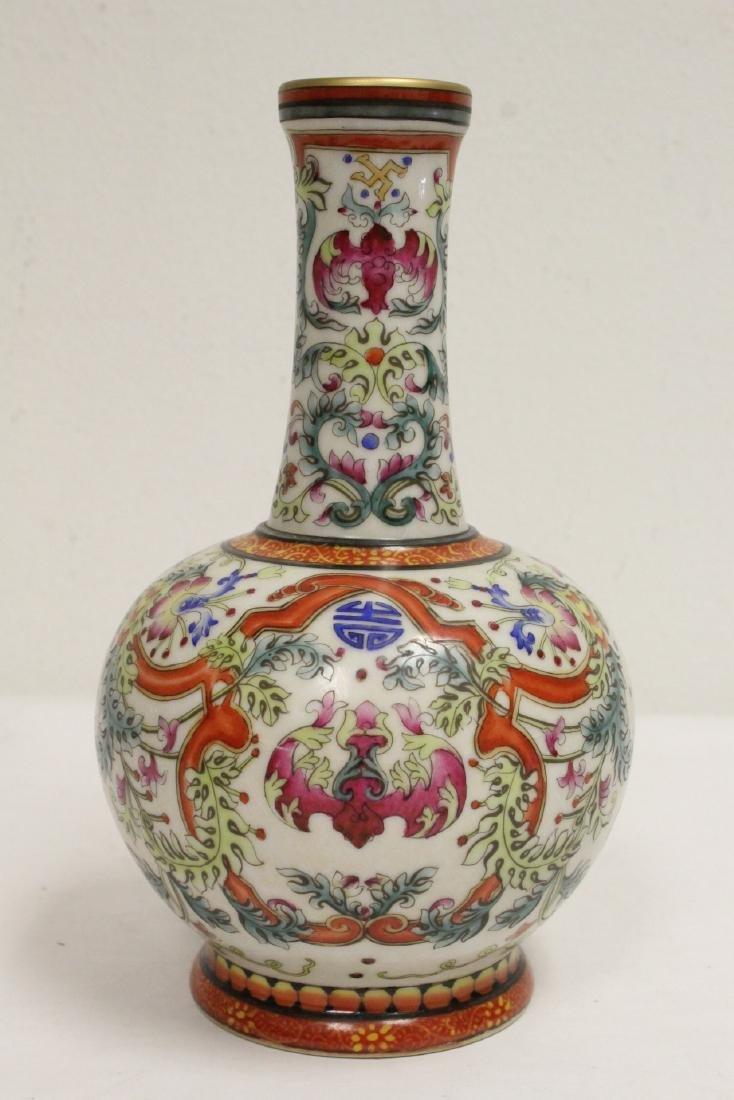 Chinese wucai porcelain vase