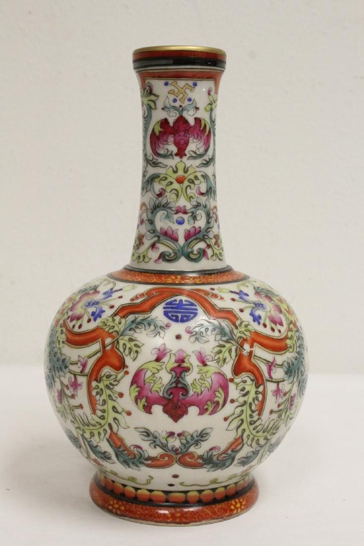 Chinese wucai porcelain vase - 3