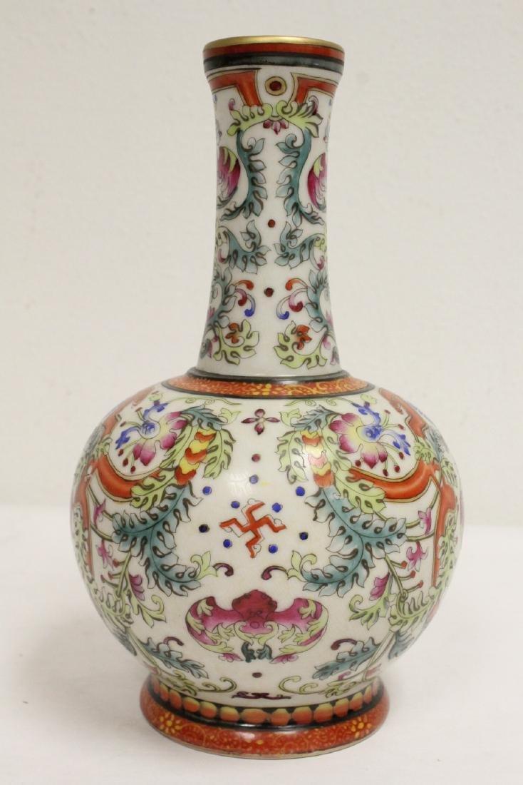 Chinese wucai porcelain vase - 5