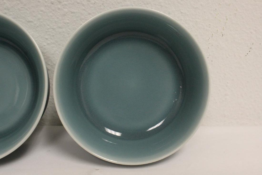2 Chinese blue glazed porcelain bowls - 5