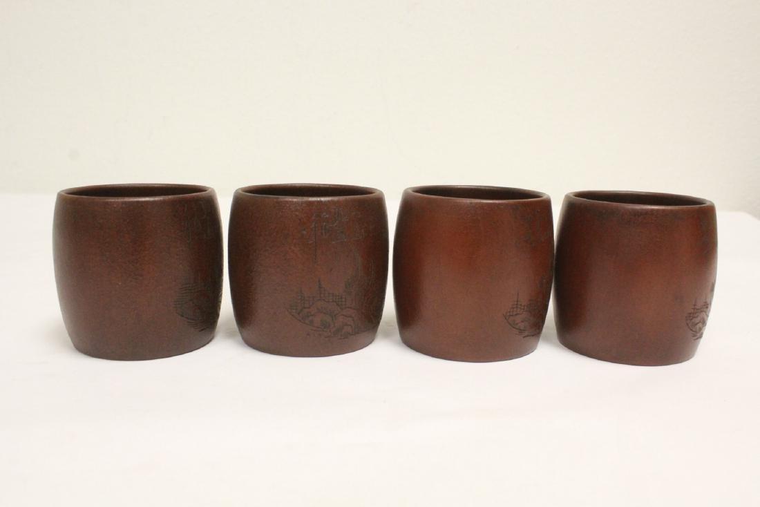 4 Yixing teapots - 2
