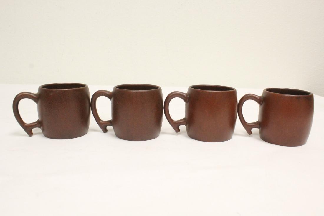 4 Yixing teapots - 3