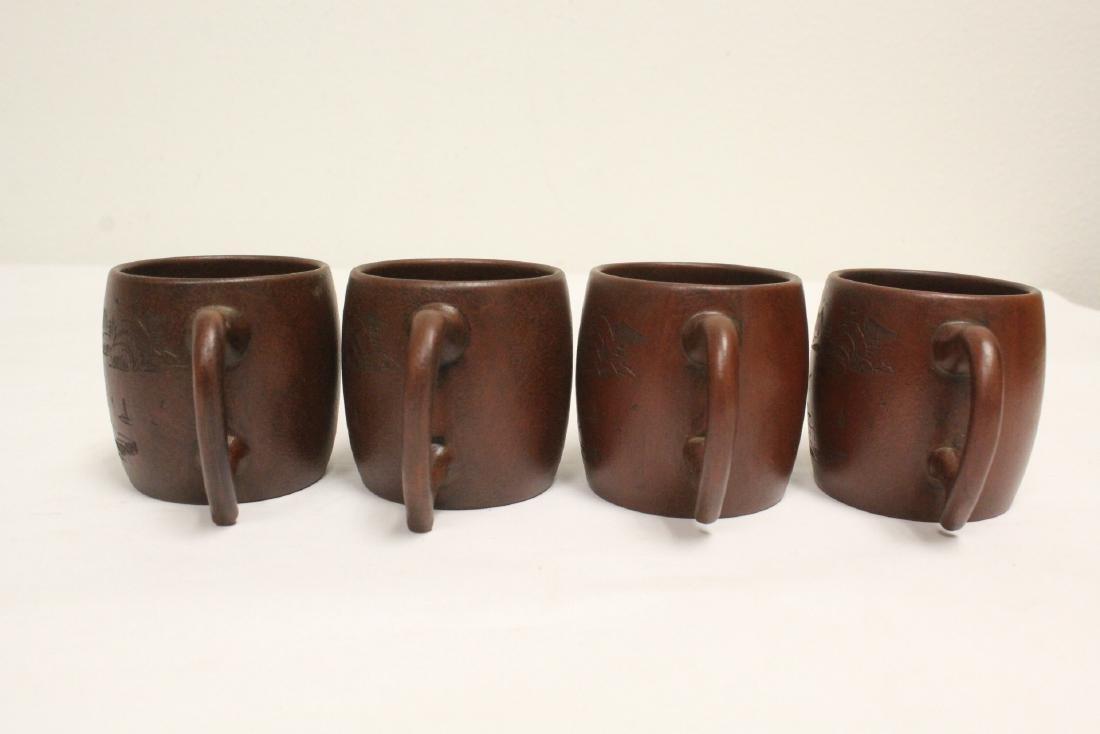4 Yixing teapots - 4