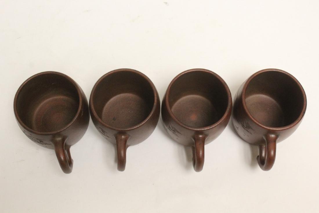 4 Yixing teapots - 5