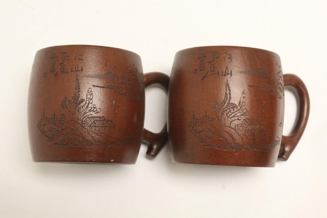 4 Yixing teapots - 7