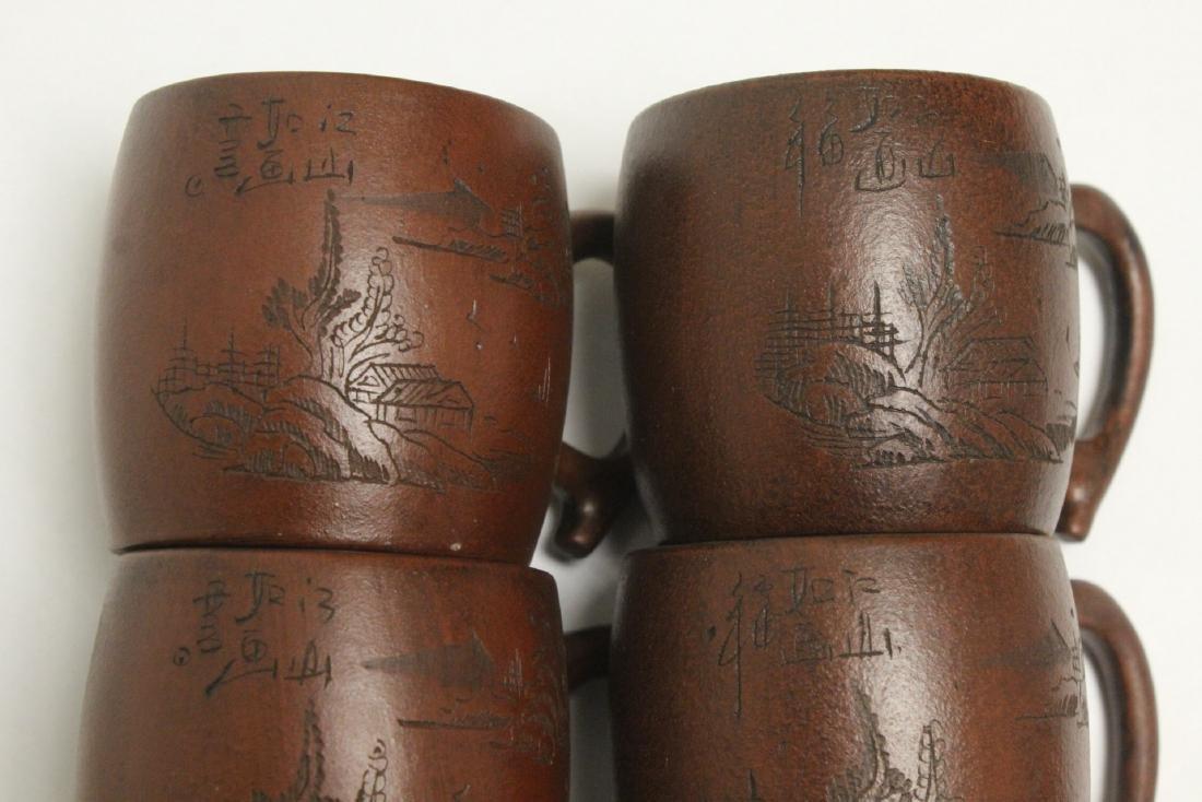 4 Yixing teapots - 9