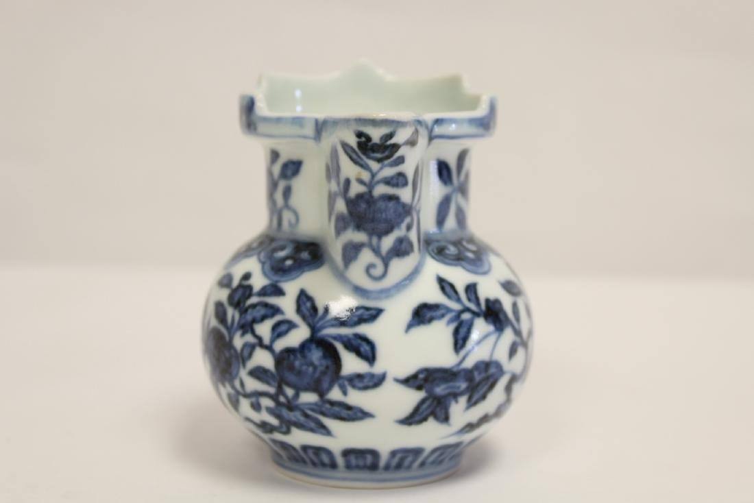 Blue and white porcelain pitcher - 2
