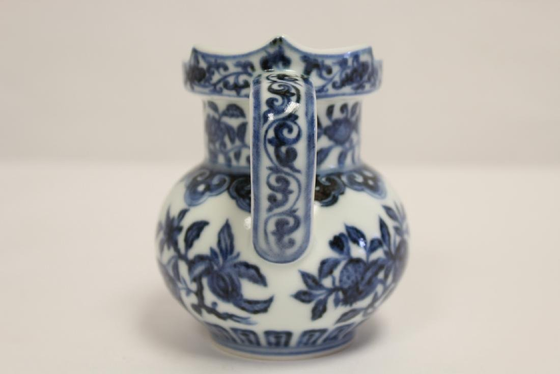 Blue and white porcelain pitcher - 4
