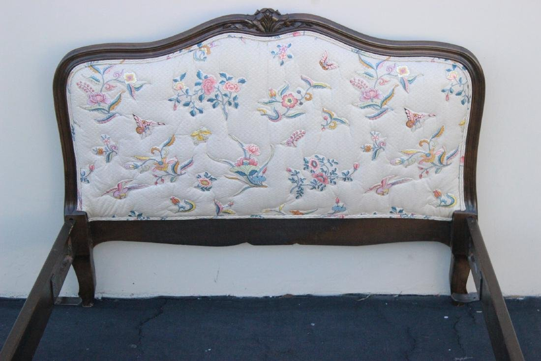 Antique French provincial walnut twin bed frame - 6