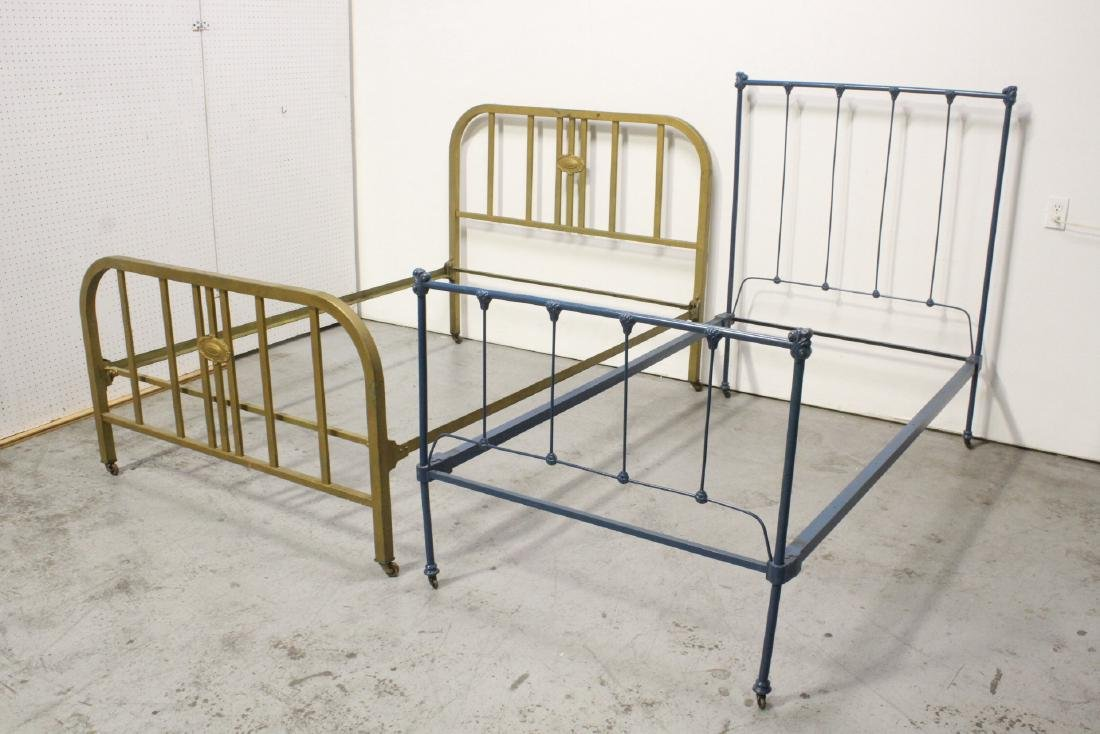 2 set of Victorian cast iron bed frames
