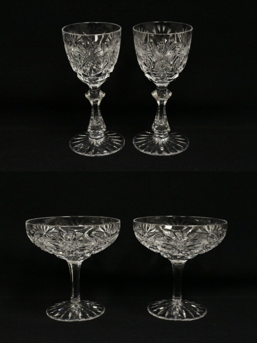 Approx. 39 pieces crystal wine goblet set - 10