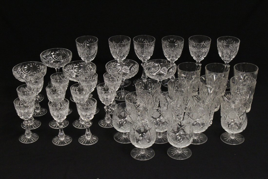 Approx. 39 pieces crystal wine goblet set